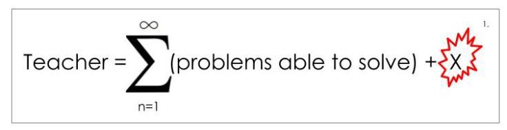 Teacher = sum of problems