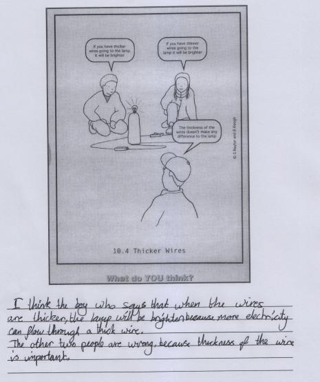 Concept Cartoon Comparative Judgement